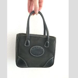 Tommy Hilfiger black denim  convertible micro tote